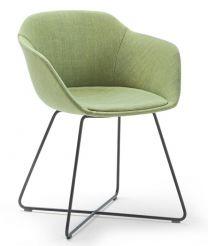 Taya-Stuhl gepolstert (gekreuzter Rohrrahmen)