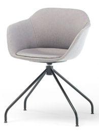 Taya-Stuhl gepolstert (Spinnengestell)