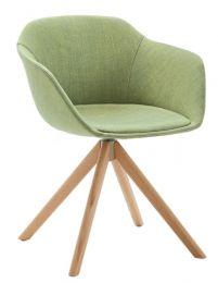 Taya-Stuhl gepolstert (Spinnengestell aus Holz)